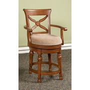 Largo Arbors Swivel Bar Stool with Cushion; 24''