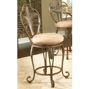 Largo Pina Swivel Bar Stool with Cushion; 24''