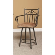 Largo Lancaster 24'' Swivel Bar Stool with Cushion