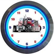 Neonetics 15'' Big Rig Truck Neon Clock