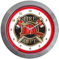 Neonetics 15'' Fire Department Neon Clock