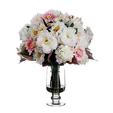 Tori Home Hydrangea / Peony / Poppy in Glass Vase