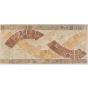 Mohawk Artistic Accent Statements 12'' x 5'' Basketweave Decorative Border in Sand/Walnut/Gold/Red