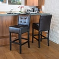 Home Loft Concept Princeton Leather Bar Stool (Set of 2)