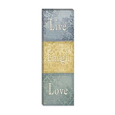 iCanvas ''Words of Life I'' Canvas Wall Art from Sparx Studio; 90'' H x 30'' W x 1.5'' D