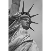 iCanvas Political Statue of Liberty Photographic Print on Wrapped Canvas in Gray