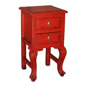 Antique Revival Bala End Table; Red