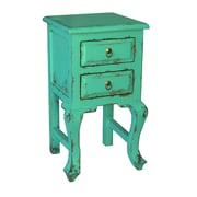 Antique Revival Bala End Table; Turquoise