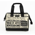 Sachi Insulated Fashion News Print Lunch Tote