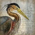 Vintage Signs Heron by Suzanne Nicoll Graphic Art Plaque