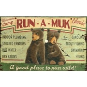 Vintage Signs Run A Muk Vintage Advertisement Plaque