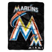 Northwest Co. MLB Miami Marlins Micro Raschel Throw Blanket