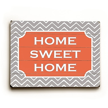 Artehouse LLC Home Sweet Home by Amanada Catherine Textual Art Plaque
