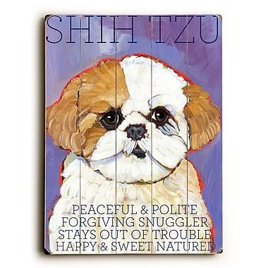 Artehouse LLC Shih Tzu by Ursula Dodge Graphic Art Plaque