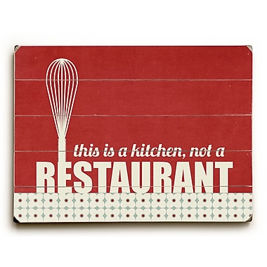 Artehouse LLC This is a Kitchen by Cheryl Overton Textual Art Plaque