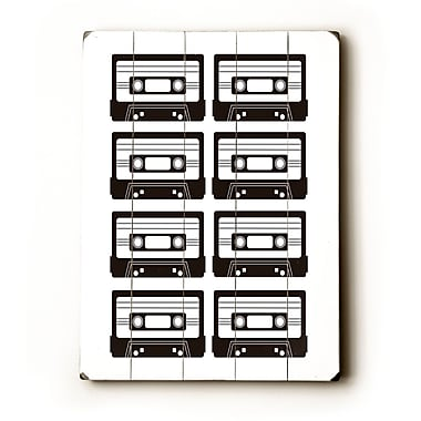 Artehouse LLC Black / White Tapes by Amanada Catherine Graphic Art Plaque