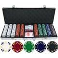 JP Commerce 500 Piece Triple Striped Clay Poker Chip Set