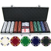 JP Commerce 500 Piece Triple Striped Clay Poker Chip Set