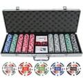 JP Commerce 500 Piece 4 Aces Poker Chip Set