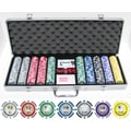 JP Commerce 500 Piece Tournament Series Poker Chip Set