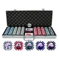 JP Commerce 500 Piece Yin Yang Clay Poker Chip Set