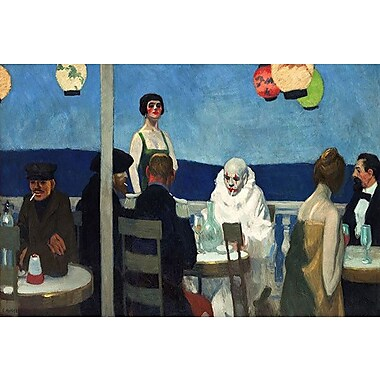 iCanvas ''Soir Bleu'' by Edward Hopper Painting Print on Wrapped Canvas; 26'' H x 40'' W x 1.5'' D