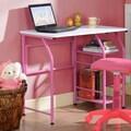 InRoom Designs Computer Desk; Pink