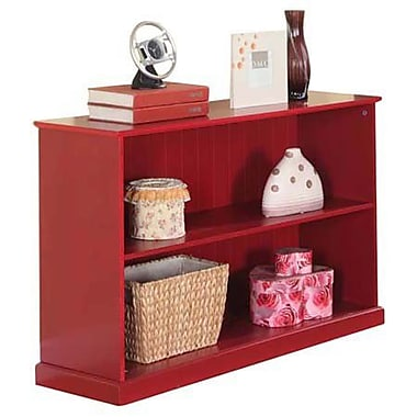 InRoom Designs 25'' Bookcase; Red