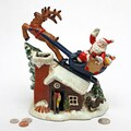 Design Toscano Santa's Christmas Sleigh Ride Mechanical Coin Bank