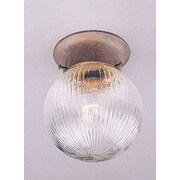 Volume Lighting Roth 1-Light Ceiling Fixture Flush Mount; Prairie Rock