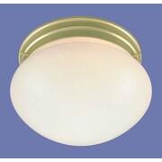 Volume Lighting 2 Light Ceiling Fixture Flush Mount; Polished Brass