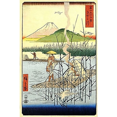iCanvas ''The Sagami River'' by Utagawa Hiroshige l Painting Print on Wrapped Canvas