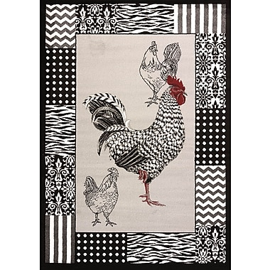 United Weavers of America Cristall Grey Rooster Rug; 7'10'' x 11'2''