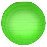 Luminarias 6 Piece Round Paper Lantern Set; Green