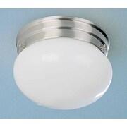 Volume Lighting 1 Light Ceiling Fixture Semi Flush Mount; Brushed Nickel