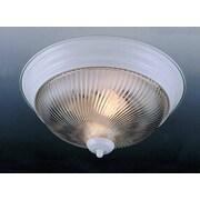 Volume Lighting 1 Light Ceiling Fixture Flush Mount; White