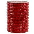 Woodland Imports Metal Stool; Red