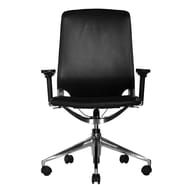 Wobi Office Marco Mid-Back Leather Chair with Adjustable Armrest; Adjustable