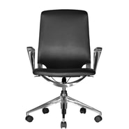 Wobi Office Marco Mid-Back Leather Chair with Adjustable Armrest; Standard