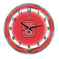 Wave 7 NCAA 18'' Team Neon Wall Clock; North Carolina State