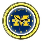 Wave 7 NCAA 14'' Team Neon Wall Clock; Michigan