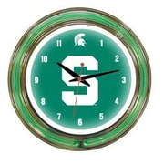 Wave 7 NCAA 14'' Team Neon Wall Clock; Michigan State