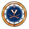 Wave 7 NCAA 18'' Team Neon Wall Clock; Virginia