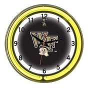Wave 7 NCAA 18'' Team Neon Wall Clock; Wake Forest