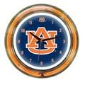 Wave 7 NCAA 14'' Team Neon Wall Clock; Auburn