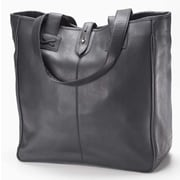 Clava Leather Bridle Oversized Tote Bag; Black