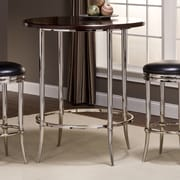 Hillsdale Maddox Dining Table; Shiny Nickel