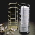 Taymor Freestanding Wire Toilet Paper Basket; Polished Brass