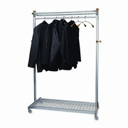 Alba, Inc Alba 72''H x 45.6''W x 22''D Two-Sided Two-Shelf Garment Rack