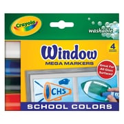 Crayola Washable Window Mega School Marker Sets